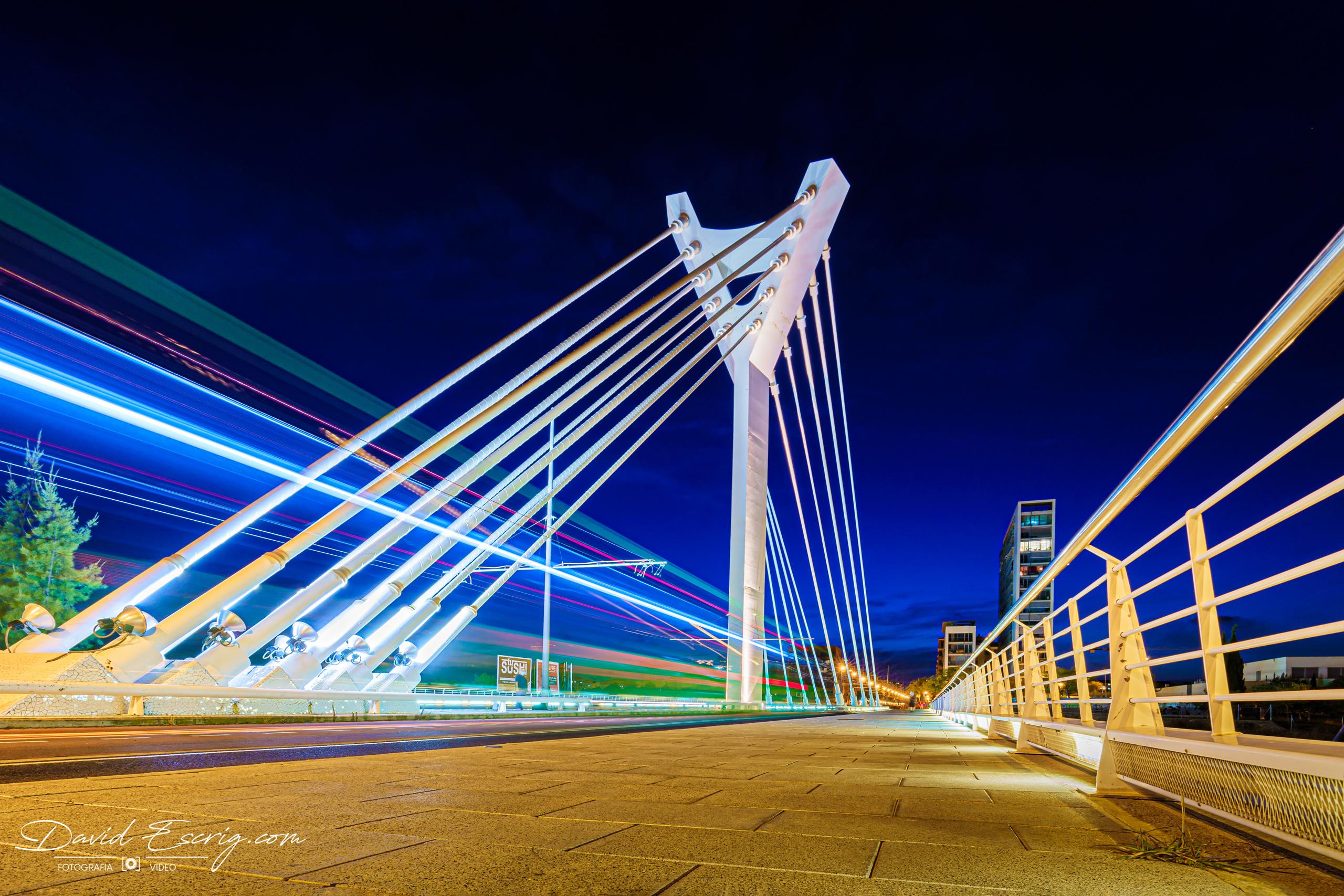 Puente Siglo XXI nocturna Castellon